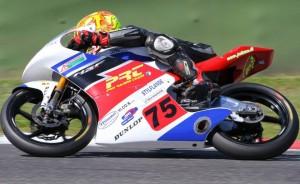 Infortunistica Triangolo con Alessandro Torlaschi del Pro Racing Team, nel Campionato CIV Moto3