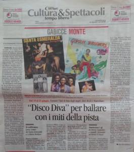 Disco Diva - Articolo Corriere